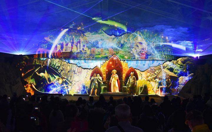 鳥取砂丘砂の美術館の冬の風物詩とも言える3Dプロジェクションマッピングがスタートしました!