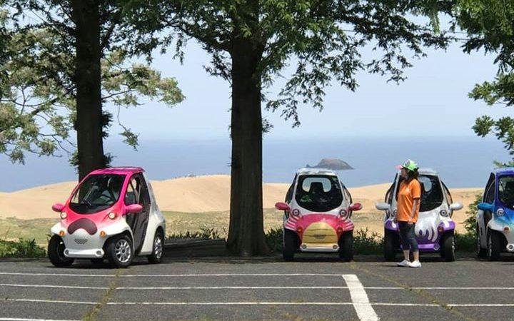 砂丘ゴルフクラブの駐車場にある展望台。